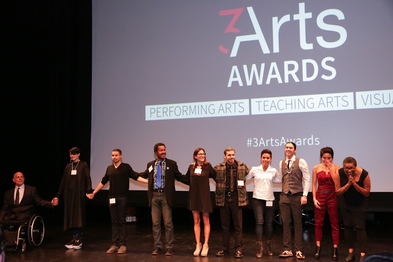 3Arts Awardees on stage