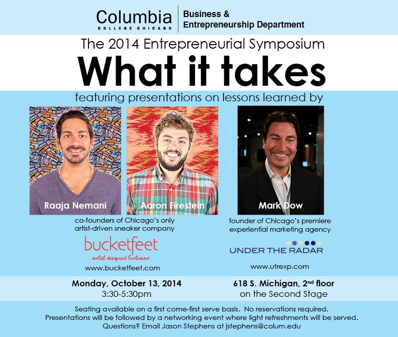 Entrepreneurial Symposium October 13, 2014 3:30-5:30pm