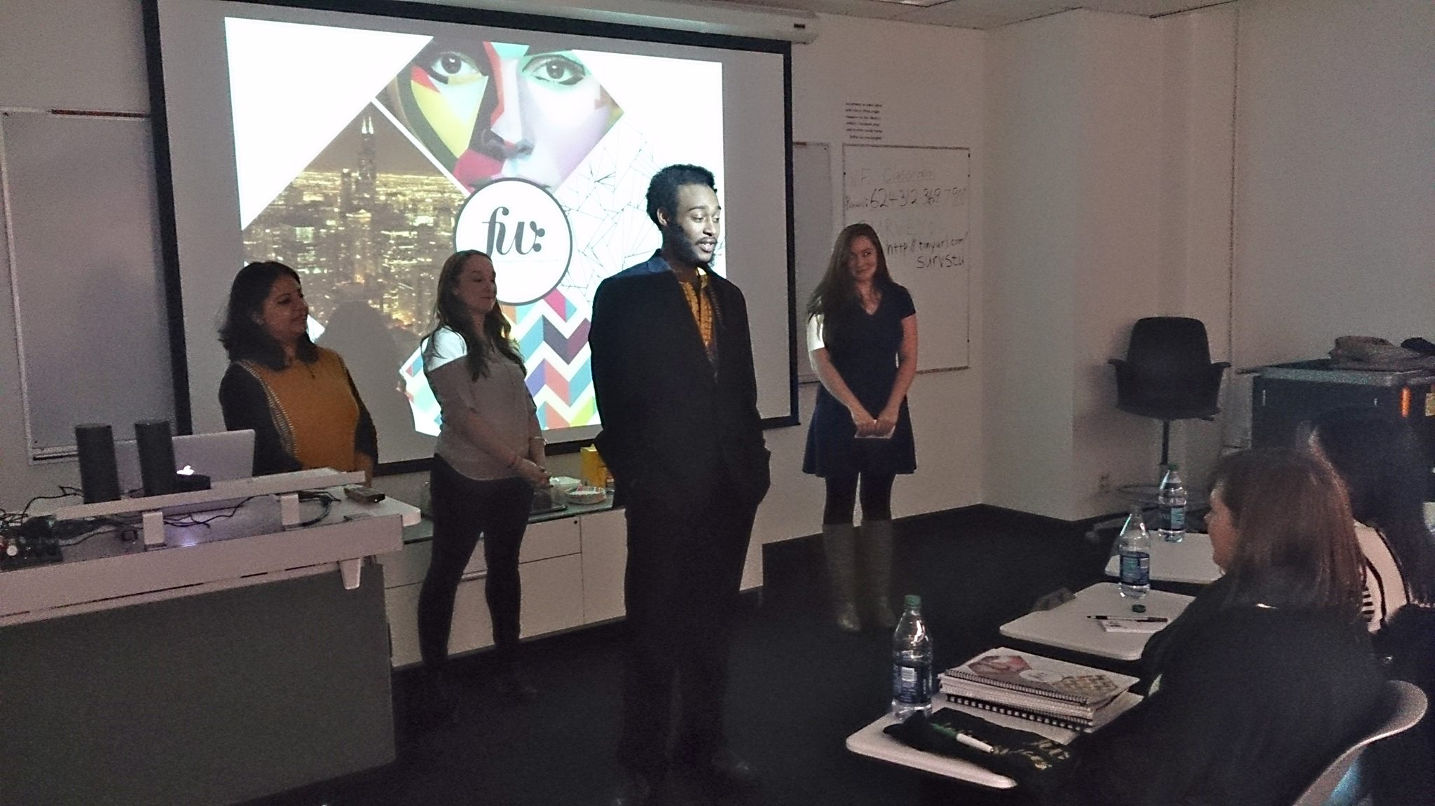 Graduate Students Present Marketing Plan to Local Startup
