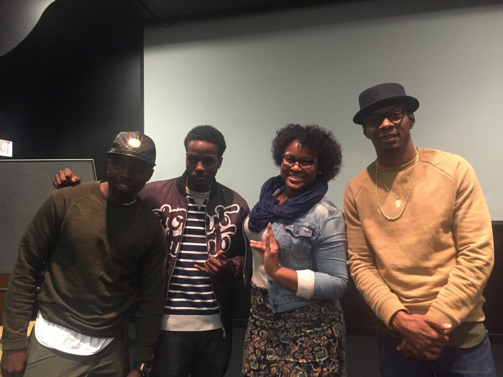 Kosine and Tuo pictured with BUSE graduate students, Brandon Saunders and Shaunda Brooks