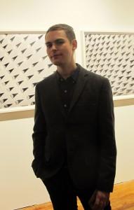 Nick Albertson on the opening night of Single Use.