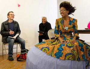 Fatimah White presents Hidden Beauty at the 2013 NYC winter residency. Photo credit: Transart