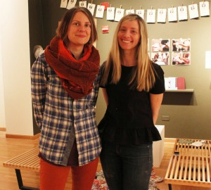 Mel Potter and Jessica Cochran, co-curators of Social Paper