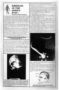 """Monte Cazazza, """"Needles in the Mind's Eye"""" from RE/Search #3 (1981), p. 5 (Img: Courtesy Nat Trotman)"""