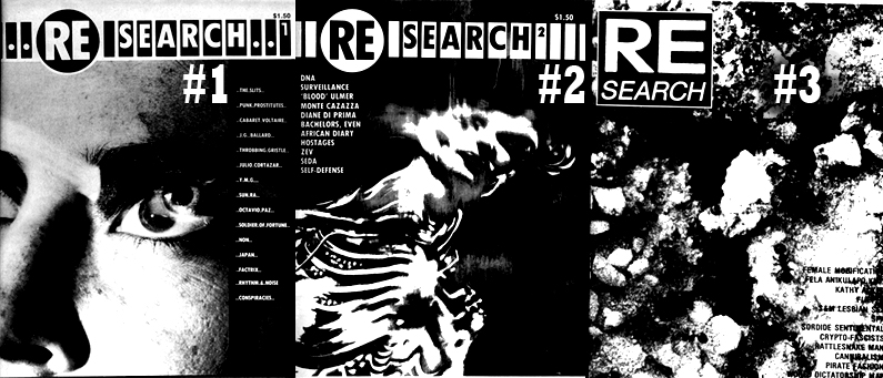 Re/Search Magazine (IMG: Researchpubs.com)