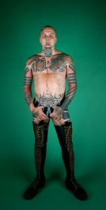 "Ron Athey, From the series ""Portraits"" (1994) IMG: ART 21)"