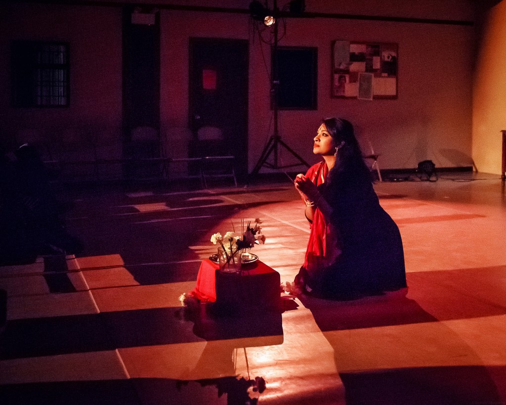 "Priya Narayan in ""Bindis and Bruises."" Photo by Al Zayed."