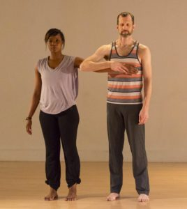 "Tia Monet Greer and Peter Carpenter in ""document shoot rehearsal run."""