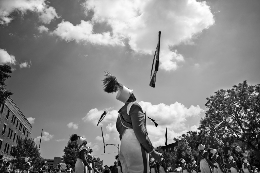 The Bud Billiken Parade, the oldest African- American parade in the country, kicks off the new school year and celebrates black life in Chicago. Washington Park, Chicago, 2013.