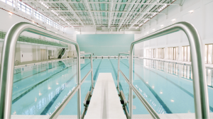 The pool at Princess Nora Academic Medical Center in Riyadh, Saudi Arabia.