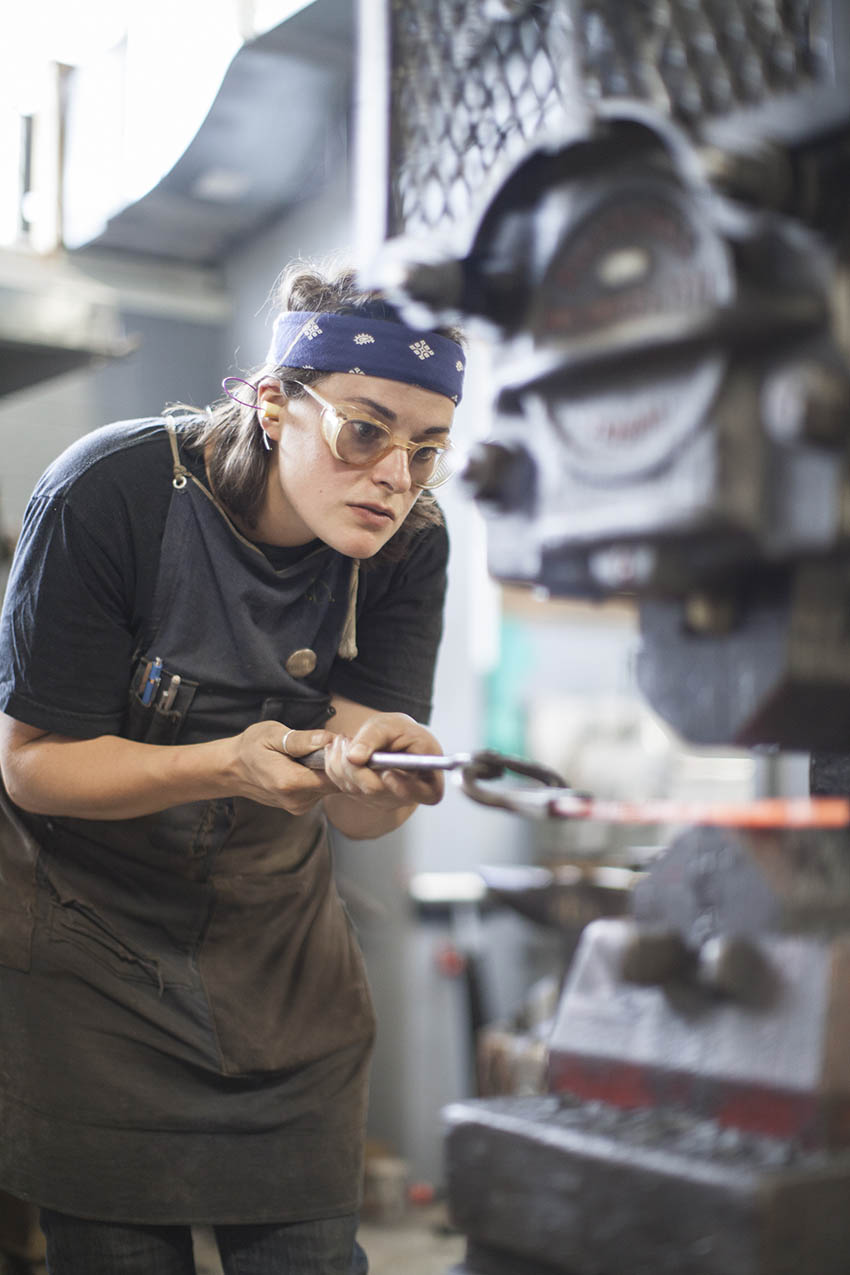The modern metalworkers at Smith Shop create handcrafted metal products of all kinds and offer classes and workshops.