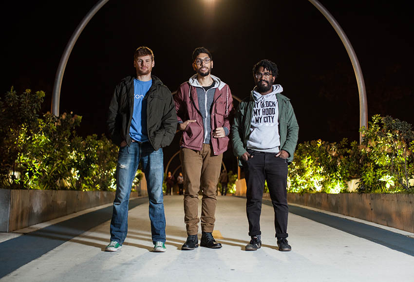 Jamie Hibdon, Erik Rodriguez and Darryl Holliday