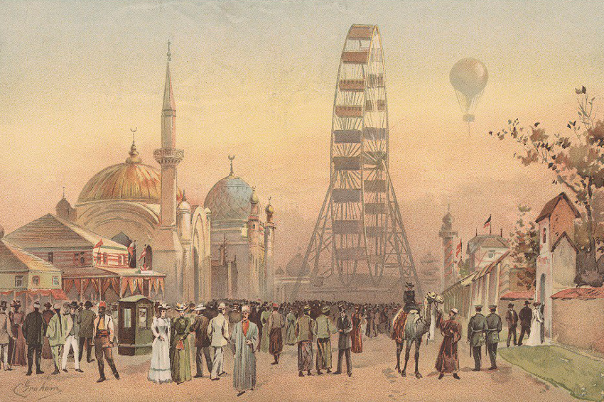 The historic World's Columbian Exposition of 1893 spread over 630 acres on Chicago's South Side.