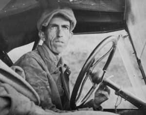 """""""Ditched, Stalled and Stranded,"""" San Joaquin Valley, California, by Dorothea Lange, from the Museum of Contemporary Photography"""