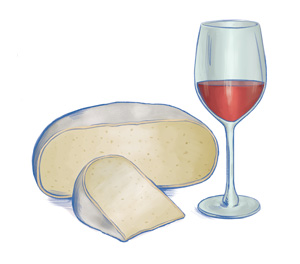 "Sheep milk cheeses alongside a rich red wine are ""mild and creamy, but complex."""