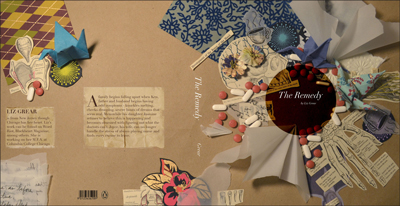 As a student, Unkefer collaborated with Liz Grear '11, MFA '15 on this mock-up for The Remedy, a book Grear created as part of her Creative Writing classes.