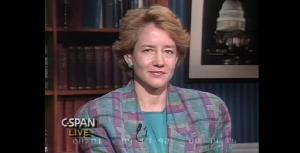 Nancy Traver on C-Span in 1993.