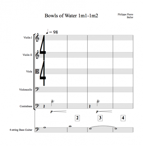 """Bowls of Water"" conductor score"