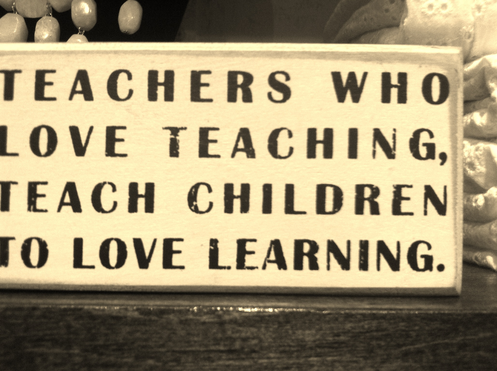 Why we are educators