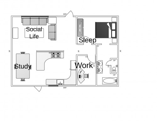 Apartment Diagram Joshua C. Robinson 2013
