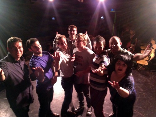 "Improvisational Comedy teams ""Them"" and ""Lost Dog"" at the Cornservatory, Chicago, IL."