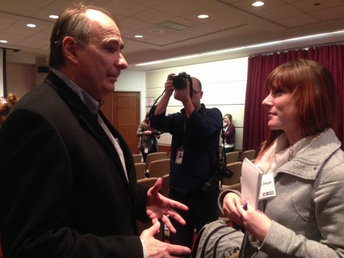 Interviewing David Axelrod following the Chicago Sun-Times' event: Politics Early & Often.