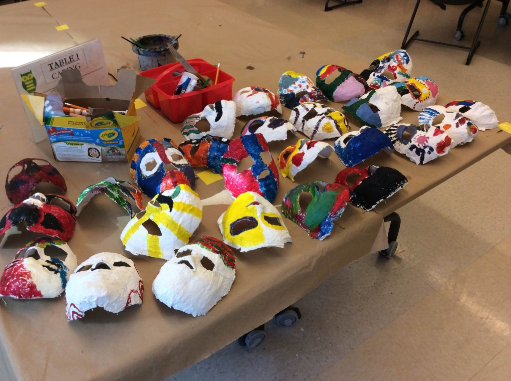 Hundreds of Masks Will be Created by the Entire School