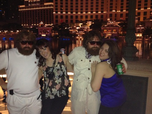 You probably get this question a lot, but does the real Caesar live here? Angelica and I taking advantage of a photo op with the Zach Galifianakis/Alan look-alikes.