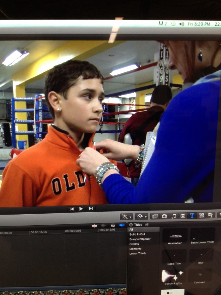 Interviewing Felix Gonzalez for my final TV package on the Chicago Youth Boxing Club.
