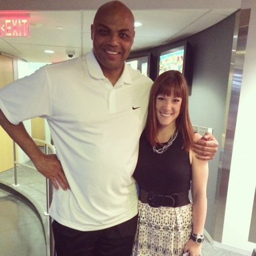 Meeting Charles Barkley when he co-anchored Fox 29 Sports Sunday.