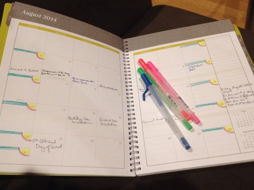 """Treated Myself to a New Organizer and Jelly Pens to """"Inspire"""" Me to Plan"""