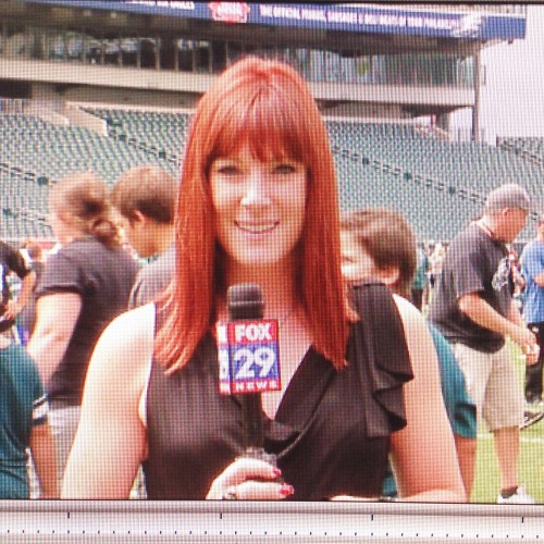 Reporting at Eagles Training Camp for Fox 29 Philadelphia.
