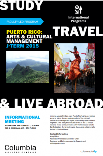 Potential Poster for the Puerto Rico Study Abroad Program