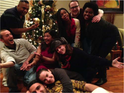 The 2015 Class of Directors and Producers celebrating the holidays last year.