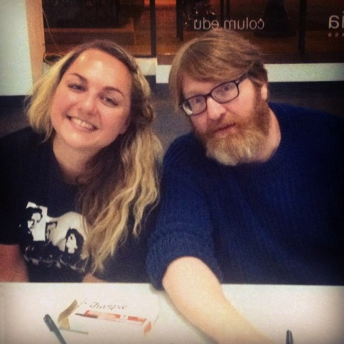 Cynthia Robinson and Chuck Klosterman (Photo credit Cynthia Robinson)