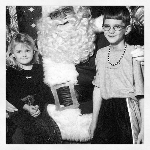 (Not really, this is just me and my sister with Santa)