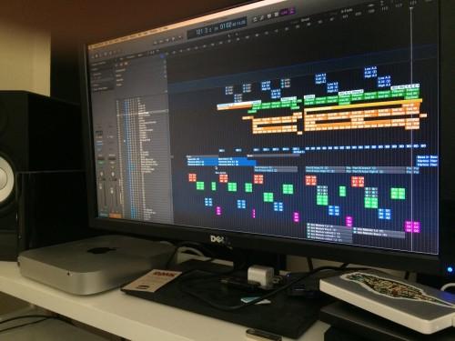 Many MIDI tracks in Logic X