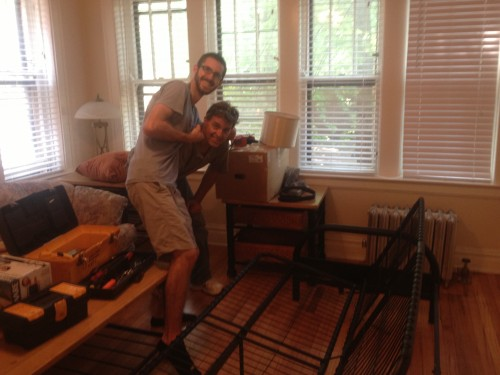 My Dad and I, moving all of the furniture into my new apartment!