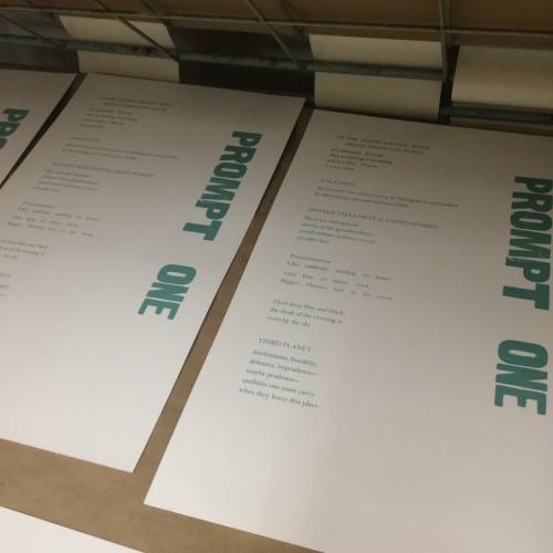 Letterpress Broadsides Created in Week 1 of Cross Genre and the Ephemeral