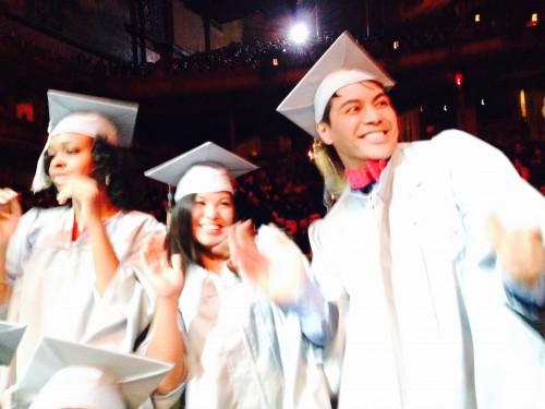 Graduate students at the 2015 graduation ceremony.