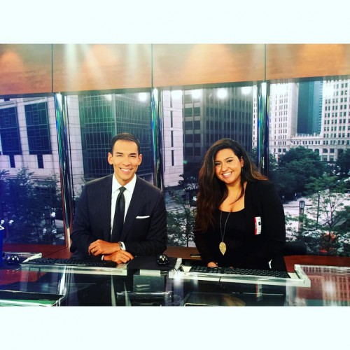 Stefan Holt and I at NBC5 Chicago