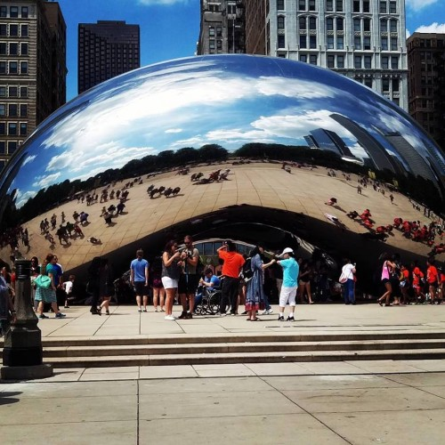 "Requisite photo of ""The Bean,"" taken well after settling into the city. (Photo by David Fairbanks)"
