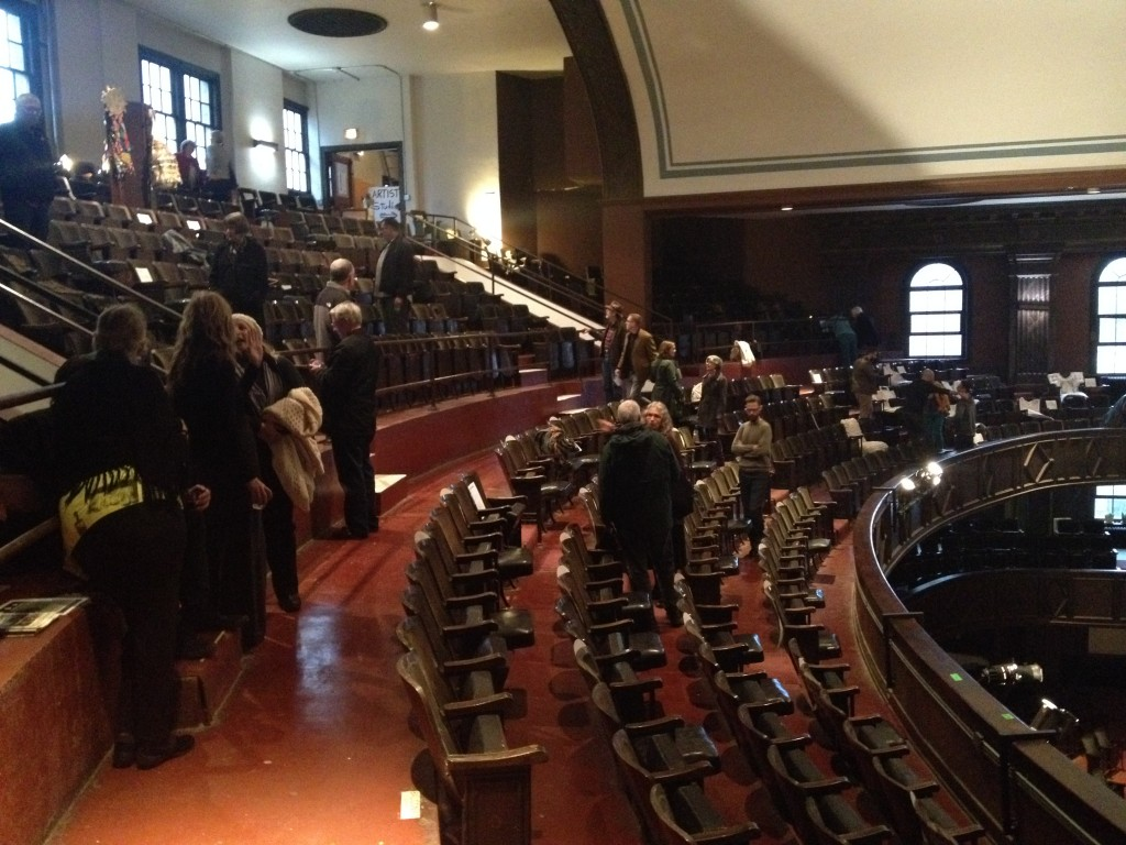 The Worn Articles opening - in the balcony of the People's Church!