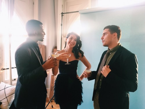 With creative producers Bianca Panos and Tyler Henker before the Opening Night