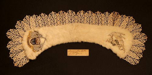 A fur collar, one of the artifacts I'll be exhibiting in my thesis show