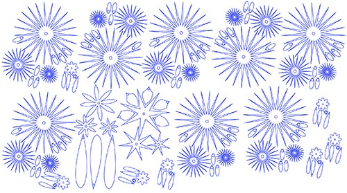 Flower designs in Illustrator for laser-cutting.