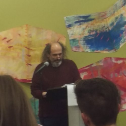 Columbia Poetry Review Faculty Advisor Tony Trigilio introducing the reading