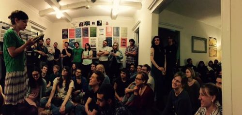 A full house at the Dollhouse Reading Series