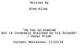So You've Got a Screenplay