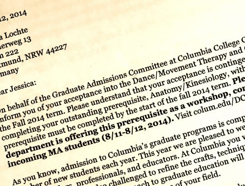 One step closer to being admitted!